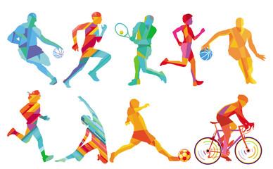 Sport Design-Icon-Set Vektor Illustration - fototapety na wymiar