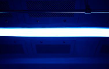Dark blue handrail in metro car texture background hd