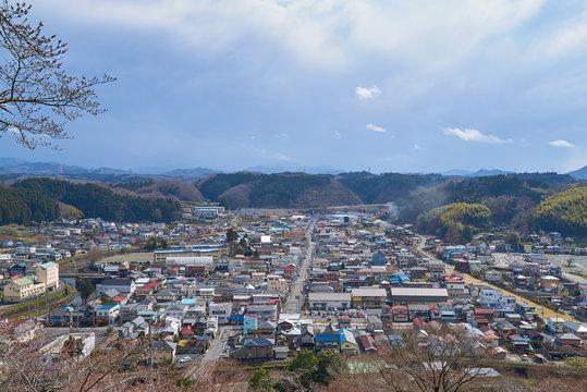 栃木県茂木町 市街地全景