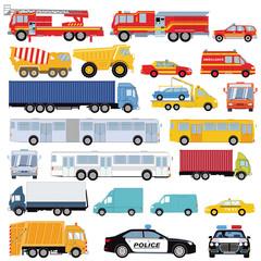 Autos, Lastwagen, Bus