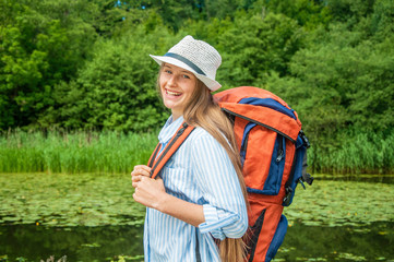 Young woman traveller