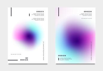 Abstract gradient poster and cover design. Vector illustration. Fotoväggar