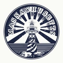 Massachusetts. Tattoo and t-shirt design. Welcome to Massachusetts, (USA). The bay state slogan. Travel art concept