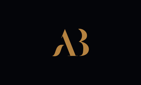 AB Letter logo Design Template Vector Minimal
