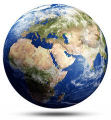 Wall Mural - Planet Earth map globe
