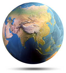 Fototapete - Planet Earth isolated