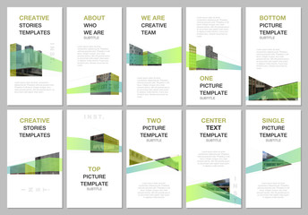 Creative social networks stories design, vertical banner, flyer template with architecture design. Abstract architectural background. Covers design templates for flyer, leaflet, brochure, presentation