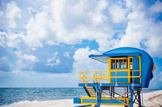 Lifeguard stand colorful