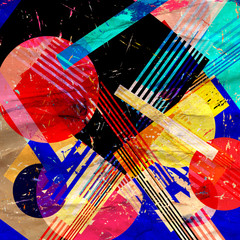 Watercolor unusually color abstract geometric super background