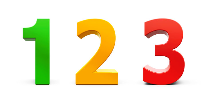 Colorful Numbers 1 2 3