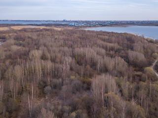Aerial view of city Tallinn Estonia, Distrikt Pohja Tallinn