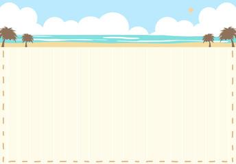 ビーチ風景 ステッチフレーム
