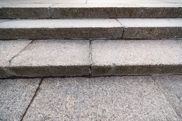 Monochrome stone stairs is close