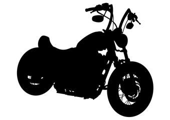 Wall Mural - Old big bike on white background