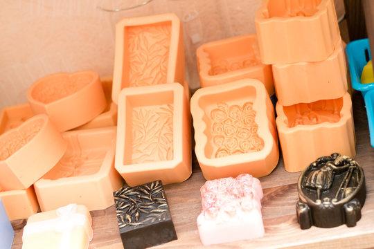 brown molds for making handmade soap