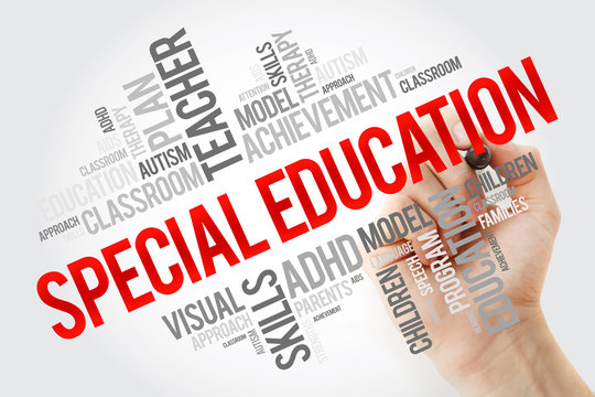 Special Education word cloud collage with marker, education concept background