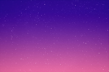 Abstract view on a stars in the evening purple sky as background, texture