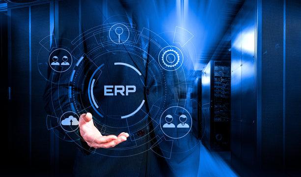 Enterprise Resource Planning ERP system management and technology 3d render