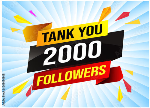 thank you 2k 2000 followers tag  Banner design template for