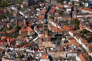Aerial Picture of the Hanseatic City of Wismar – Germany 2019