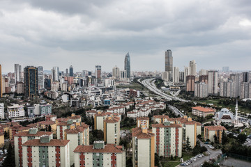Fotomurales - Atasehir City in Istanbul.