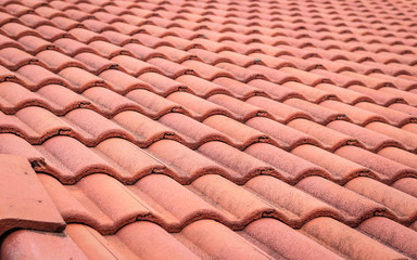 Red Roof tiles seamless texture , roof pattern