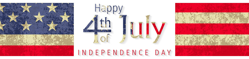Happy 4th of July Independence Day greeting card. Happy independence day of America vector design. 4th of july celebration.