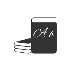 ABC book icon isolated. Dictionary book sign. Alphabet book icon. Flat design. Vector Illustration