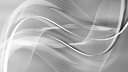 Keuken foto achterwand Abstract wave Abstract Grey Wave Lines Background
