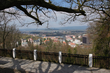 Czech city of Karlovy Vary city in spring
