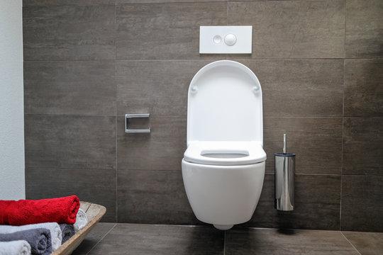 Clean toilet bathroom