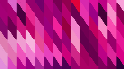 Pink Geometric Shapes Background Vector Wall mural