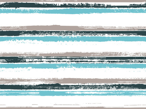 Stripes geometric textile seamless vector pattern.