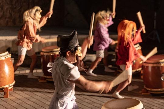 岡山県総社市にて「うら伝説」より鬼関連の日本太鼓演武が勇壮で面白い。