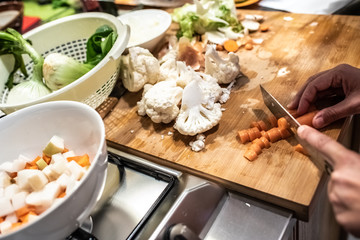 Ingredients to prepare a rich meal manipulated.