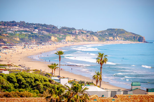 Exclusive mansions at Malibu beach at the Pacific Coast Highway - travel photography