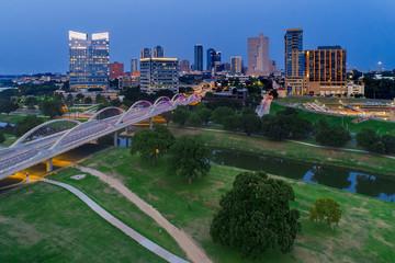 Keuken foto achterwand Nacht snelweg Aerial View Fort Worth, TX