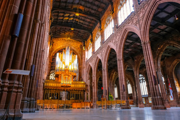 Manchester Cathedral in manchester, UK Wall mural