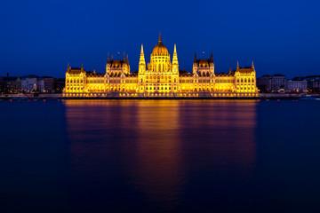 Aluminium Prints Budapest Budapest's iconic Parliament Building