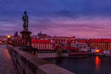 Foto op Aluminium Krakau Sunset over Prague