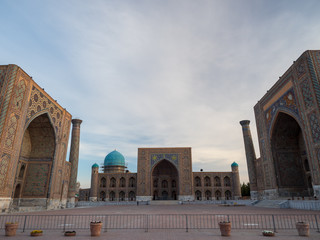 View of mosque in Central Asia.