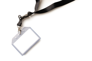 Empty ID card badge with black belt