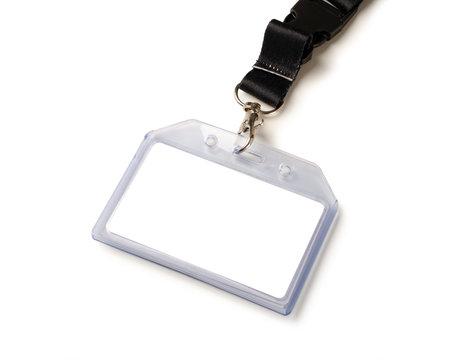 Blank bagde mockup isolated on white background