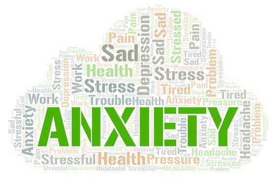 Anxiety word cloud.