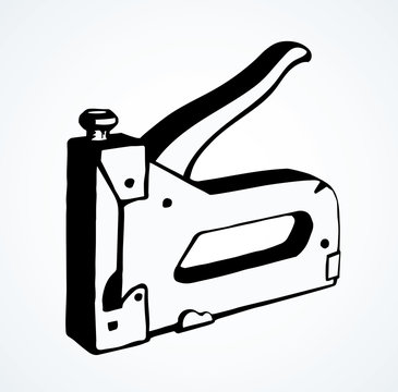 Stapler. Vector drawing