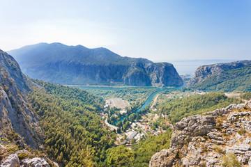 Omis, Croatia - Beautiful lookout upon the city of Omis in Croatia