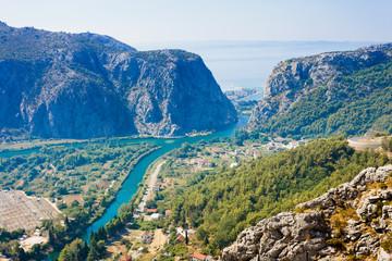 Omis, Croatia - Beautiful scenery around the mountains of Omis in Croatia