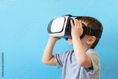 boy in glasses virtual reality vr glasses
