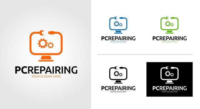 Pc Repairing Logo Template Set