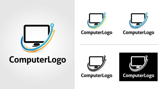 Computer Logo Template Set